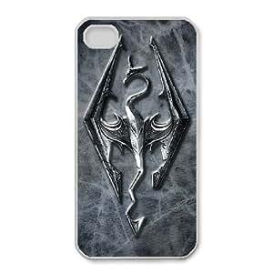 iPhone 4,4S Phone Case White Skyrim KG4497992