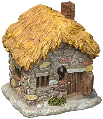 Darice Q78140710 Mini Fairy House Cobblestone W Thatch Roof (Thatch House)