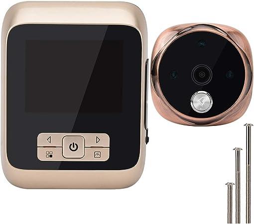 Sonnette visuelle Sonnette /électronique Intelligente de Moniteur de /œil de Chat de 3 Pouces HD Moniteur de cam/éra sans Fil 170 /° Grand Angle Super Vision Nocturne Longue Veille