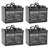 UB12350 12V 35AH Internal Thread Battery for CHAUFFER C SERIES - 4 Pack