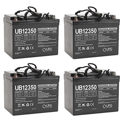 UB12350 12V 35AH Internal Thread Battery for ActiveCare Pilot 2410 C - 4 Pack by Universal Power Group