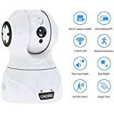 Security Camera Wireless IP Surveillance Camera 1080P with Night Vision Activity Detection Alert Baby Monitor, Remote Monitor with iOS, Android App, White