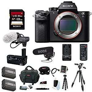 Sony Alpha a7SII Digital Camera 128GB Memory Card Accesory Bundle