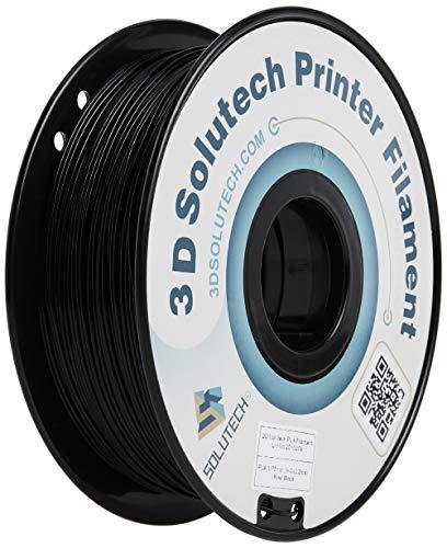 3-d Solutech Real Black 3-d Printer PLA Filament 1.75MM Filament, Dimensional Accuracy +/- 0.03 mm, 2.2 LBS (1.0KG) - PLA175RBLK