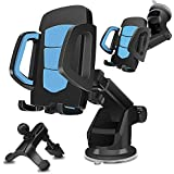Car Phone Mount, YOUTIME 3 in 1 Cell Phone Holder Car Air Vent Holder Dashboard Mount Windshield Mount for iPhone Xs Max R X 8 Plus 7 Plus 6S Samsung Galaxy S9 S8 Edge S7 S6 LG Sony and More