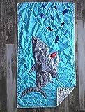 Baby boy quilt , Shark blanket, Handmade quilt for sale, Nautical baby bedding, Shark baby blanket, Shark quilt, Blue and white quilt