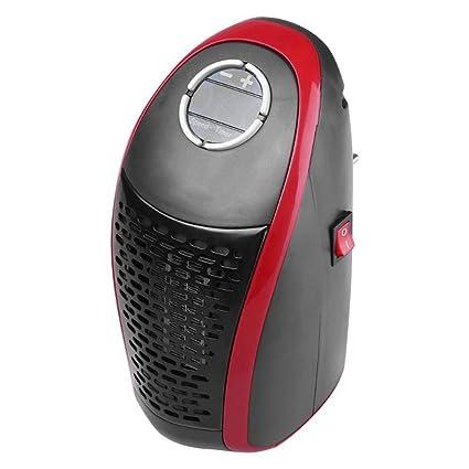 Ozktlife Control Remoto 400W Calentador Eléctrico Ajustable Pared Ventilador Calentador Portátil Hogar Estufa Radiador Calentador Máquina