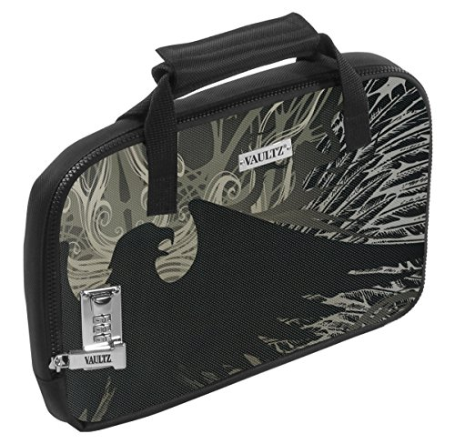 Vaultz Locking Soft-Sided Handgun Case, 3.75 x 13.75 x 9.5 Inches, Black Eagle (VZ03565)