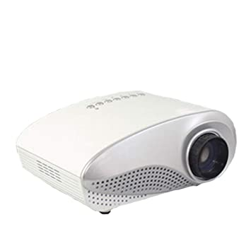 HBOY Mini Proyector Micro Proyector HD 1080P Proyector de TV-White ...
