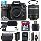 Holiday Saving Bundle for D7500 DSLR Camera + AF-P 18-55mm + 2yr Extended Warranty + 16GB Class 10 + Case + UV Filter + Cleaning Kit + Cleaning Brush + Card Reader - International Version
