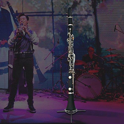 Clarinet Stand Holder Portable Folding Clarinet Tripod Stand Holder for Clarinet Flute by Vbestlife (Image #6)