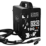 Zeny Commercial MIG 100 Welder Flux Core Wire Automatic Feed 90AMP Welding Machine w/ Free Mask, Black