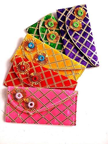 Anu Creation Canvas Woman Hand Purse (Multi-Colour)5 Pice