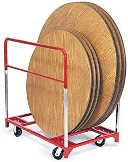 """product image for Round Folding Table Mover with 2 Fixed and 2 Swivel 5"""" Phenolic Casters"""