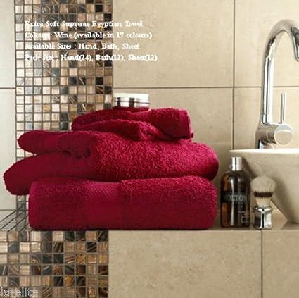 FK Styles® hoja de baño toallas de algodón egipcio de mano Gran cuarto de baño