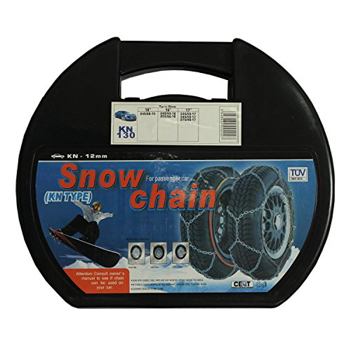 ALEKO 12mm Passenger Car Snow Chain, Pair of Size 130 Chains by ALEKO (Image #2)