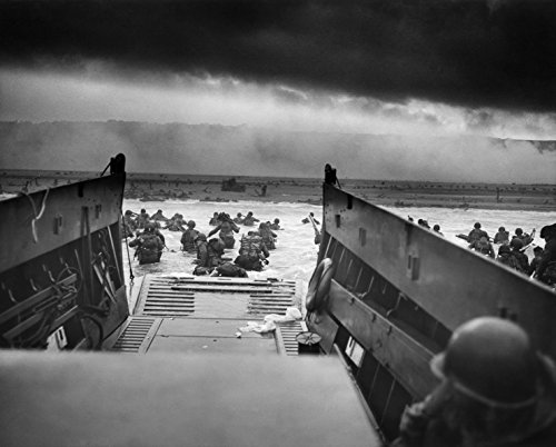 Normandy, Landing Craft, Jaws of Death WWII, France, D-Day Invasion , 8''x10'' Photo Print