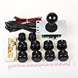 Jiu Man Arcade DIY Kit Parts USB Encoder To PC Games 5Pin Joystick + 10x Push Buttons For Mame KOF Street Fighter 4 Game