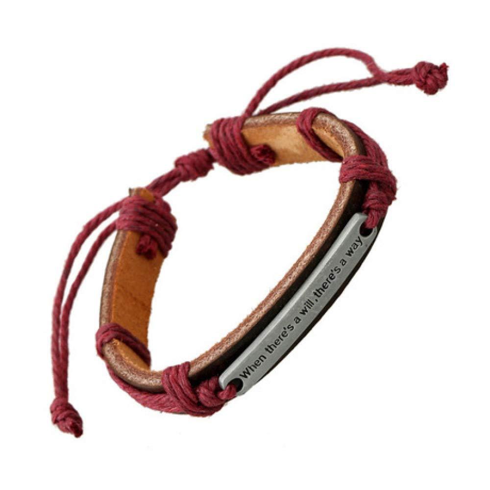 European and American English Letter Leather Bracelet Unisex Leather Bracelet yayoushen Mens Bracelet Adjustable