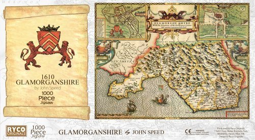 Glamorgan Historical Map 1000 Piece Jigsaw Puzzle (1610). Free print! by Ryco Originals