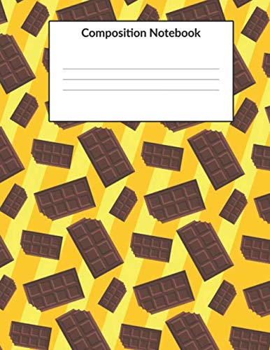 Composition Notebook: Chocolate Bar Exercise book for Writing Notes Journal for Students (120 Pages, College Ruled) by NSP Publishing