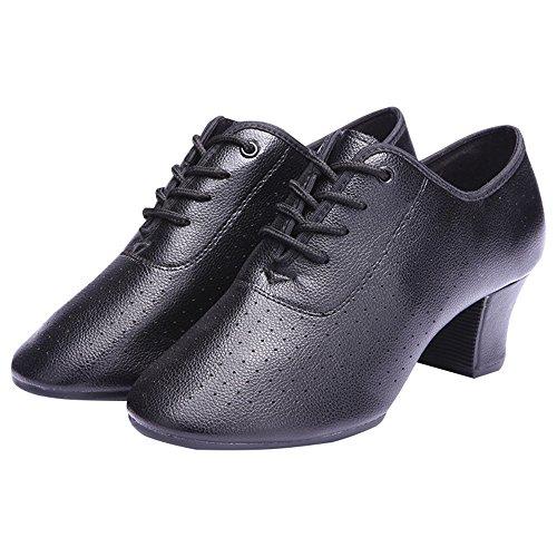 Dance 5cm 0cm 5cm Women's Shoes Shoes Size Height Black Dance Leather Flip 25 flops Adult Latin 22 nrCxn4q
