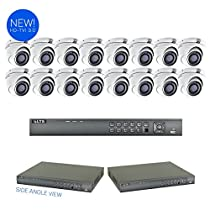 LTS 16-Channel Surveillance Kit with (16) x 3 MegaPixel HD-TVI 3.0 Cameras and 2TB HDD Included