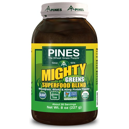 Pines International Mighty Greens Superfood Blend Powder - Organic - 8 oz - 95%+ Organic - Vegan