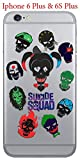 silicone gel cover case with suicide squad design for iphone 6 plus iphone 6s plus 5 5in ssq04s