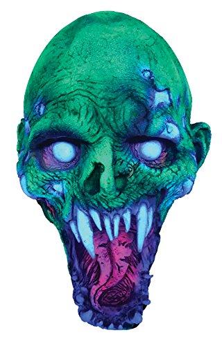(Zagone Adult Mens UV Painted Shell Shocked Latex Mask Halloween Costume)