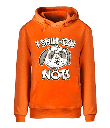 Eagle u2 Men's Autumn fleece hoodie I Shih Tzu Not orange