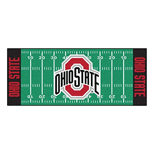 (FANMATS NCAA Ohio State University Buckeyes Nylon Face Football Field Runner)