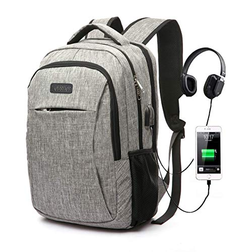 Travel Laptop Backpack,Business Slim Laptops Backpack with USB Charging Port,Water Resistant College School Bookback Computer Bag for Women & Men Fits 15.6 Inch Laptop and -