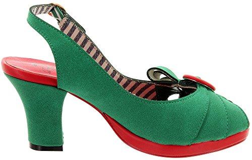 Verde Scarpette Delle Ballo Donne Giorni Da ZqqfwXz