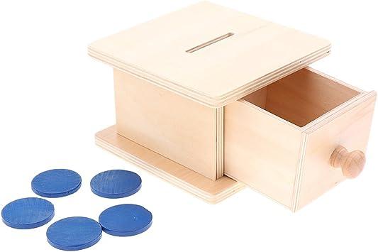 Boîte À Monnaie En Bois Montessori Jouet Éducatif pour Enfants de