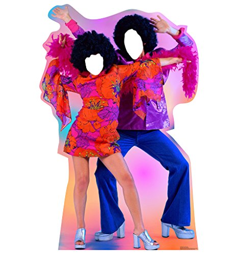 70's Dance Couple Stand-In - Advanced Graphics Life Size Cardboard (70 Party Decorations)