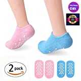 Gel Moisturizing Socks Hidrating Heels Care for Dry Cracked Feet, Calluses, Damaged Cuticles and Rough Skin with Grip, One Size