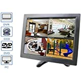 """BW 10"""" inch LCD Color Multimedia Monitor CCTV Monitor with HDMI/AV/VGA/BNC Inputs for PC CCTV Camera Security DVR System (Highlight LED/CCFL Lamps, 300cd/M2, 800*600 Resolution)"""