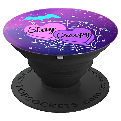 epy Heart Spider Web Bat Celestial - PopSockets Grip and Stand for Phones and Tablets ()