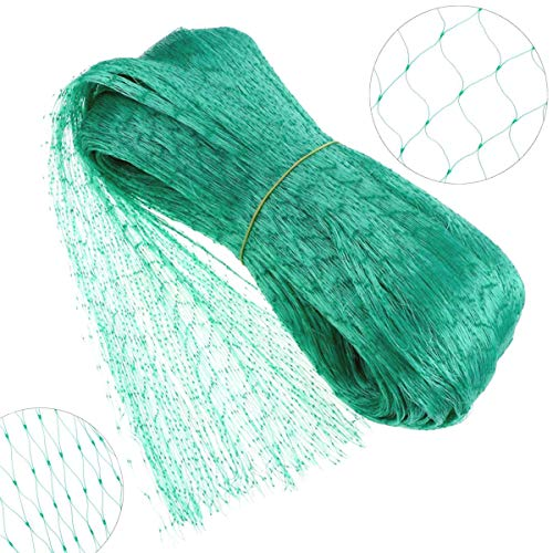 Green Anti Bird Protection Net Mesh Garden Plant Netting Protect Plants and Fruit Trees from Rodents Birds Deer Poultry Best for Seedling,Vegetables,Flowers,Fruit,Bushes,Reusable Fencing ()