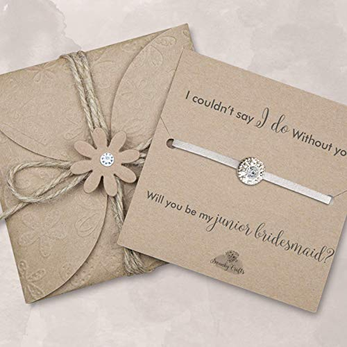Will you be my junior bridesmaid bracelet, Asking junior bridesmaid gifts, junior bridesmaid proposal gifts, Ivory]()