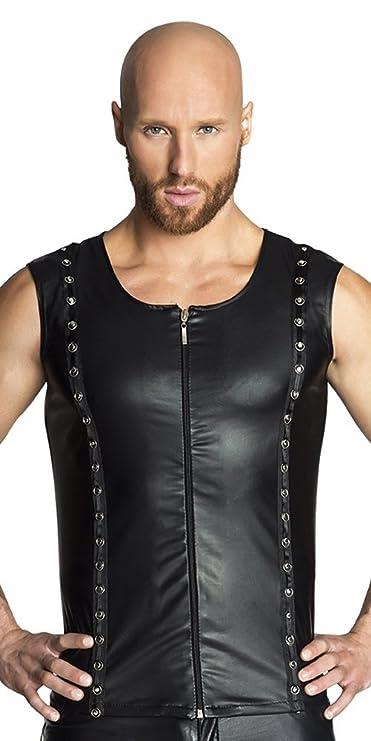 Dessous Partykleidung Noir Handmade Clubwear Wetlook Short schwarz