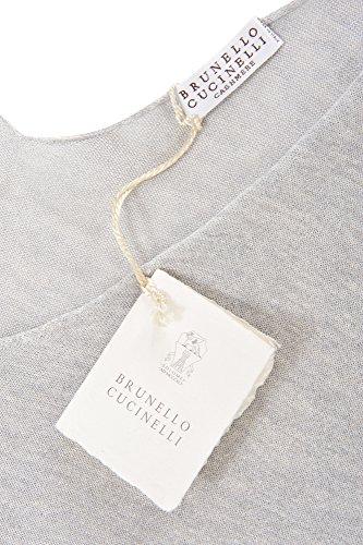 M Cucinelli Einfarbig Grau Damen Seide Brunello IT Kleid YOwPYd