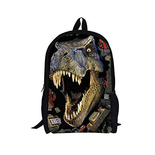HUGSIDEA Kids Backpack 3D Dinosaur Schoolbag Book Bags for Child