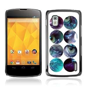 YOYOSHOP [Eyes Design] LG Google Nexus 4 Case