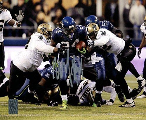 Marshawn Lynch Autographed 8x10 Photo Seattle Seahawks Beast Quake Run ML Holo