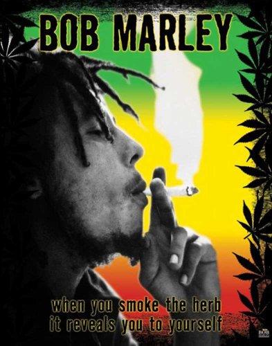 EMPIRE Mini-Poster Bob Marley When You Smoke The Herb it Reveals You to Yourself Bob Marley Smoke Herb