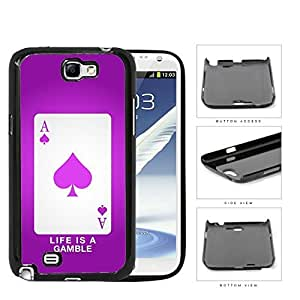 Ace Of Spade Pink Life Is A Gamble Hard Plastic Snap On Cell Phone Case Samsung Galaxy Note 2 II N7100