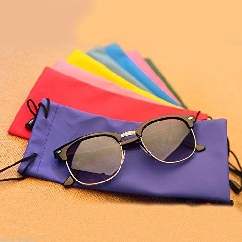 OLIVE US-1X Random Color Microfiber Phone Sunglasses Eyeglasses Pouch Bag Soft Clean - Gabrielle Sunglasses