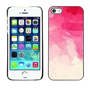 For iPhone 5 / 5S - Pink Make Up Girls Feminine Art Dise???¡Ào Protecci????n Cubierta de la caja ultra delgada de Snap de pl????stico duroco duro - God Garden -